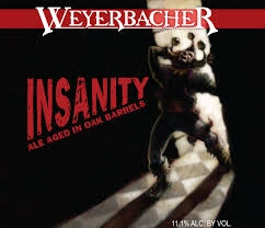Weyerbacher Insanity Barley Wine Beer $3.75 single bottle